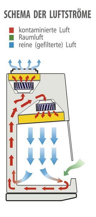 Savvy - Shema der Luftströme